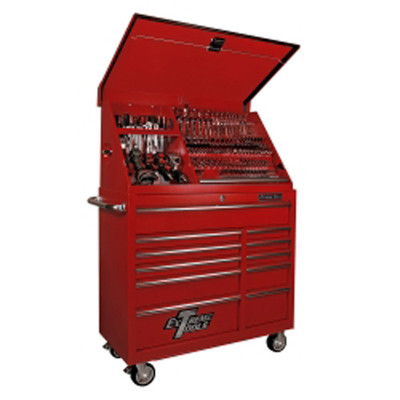 "Extreme Tools PWSRC4118TXRD 41"" Portable Workstation/Roller Cabinet Combo, Red"