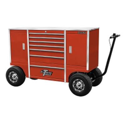 """Extreme Tools TXPIT7009RD 70"""" 7 Drawer/2 Compartment Pit Box, Red"""