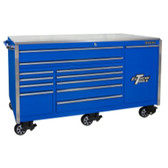 "Extreme Tools EX7612RCBL 76"" 12 Drawer Professional Roller Cabinet, Blue"