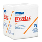 Kimberly Clark 5701 Wypall L40 Quarterfold Wipers, White