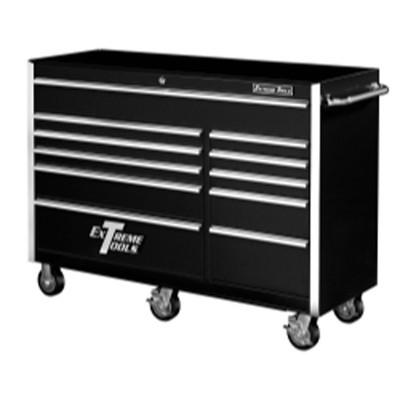 "Extreme Tools EX5611RCBK 56"" 11 Drawer Professional Roller Cabinet - Black"
