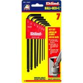 Eklind Tool Company 13207 7 Piece SAE Long Ball End Hex-L Hex Key Set