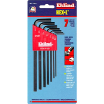 Eklind Tool Company 10207 7 Piece SAE Long Hex-L Hex Key Set