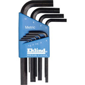 Eklind Tool Company 10509 9 Piece Metric Short Hex-L Hex Key Set