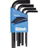 Eklind Tool Company 10509 9 Piece Metric Short Hex-L Hex Key Set