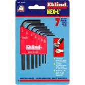 Eklind Tool Company 10107 7 Piece SAE Short Hex-L Hex Key Set