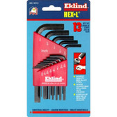 Eklind Tool Company 10113 13 Piece SAE Short Hex-L Hex Key Set