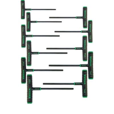 "Eklind Tool Company 68691 11 Piece 6"" Power T T-Handle Torx Key Set"