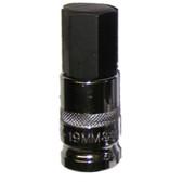 "Vim Products HM-19MM 1/2"" Drive 19mm Hex Bit Socket"