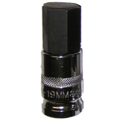 "Vim Products HM-19MM 1/2"" Drive 19mm Hex Bit Socket"