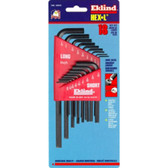 Eklind Tool Company 10018 18 Piece SAE Combination Short/Long Hex-L Hex Key Set