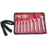 Vim Products CW100 9 PIece Midget 6 Point Box Combination Wrench Set
