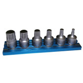 "Vim Products XZNS412 6 Piece XZN Stubby Driver Set, 1/4"" Square Drive"