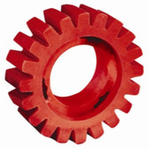 "Dynabrade Products 92255 4"" Diameter x 1-1/4"" Wide RED-TRED Eraser Wheel"