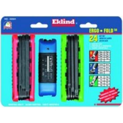 Eklind Tool Company 25024 24 Piece Combination Ergo Fold Hex Key Sets