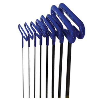 "Eklind Tool Company 55198 8 Piece 9"" Cushion Grip Metric Hex T-Key Set"