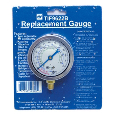 TIF Instruments TIF9622B Low Side R12 and R22 Auto Glycerine Refrigerant Gauge
