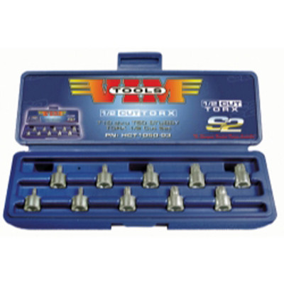 Vim Products HCT1050 10 Piece Half Cut TORX Driver Set, T10 thru T50