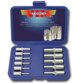 Vim Products VDE418 11 Piece Deep Torx Socket Set - E4 Thru E18