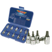 "VIM Tools V5PSD 10 Piece 3/8"" Drive 5 Point Security Driver Set"
