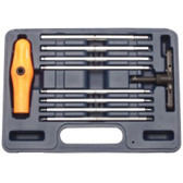 Vim Products BHI100 10 PIece Extra Long SAE Ball Hex Ratcheting T-Handle Set