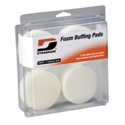 "Dynabrade Products 76016 3"" White Foam Polishing Pads"