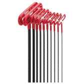 "Eklind Tool Company 53910 10 Piece 9"" SAE Cushion Grip T-Handle Hex Key Set"