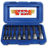 Vim Products XZN400 9 Piece XZN Triple Square, Spline Drive Bit Set