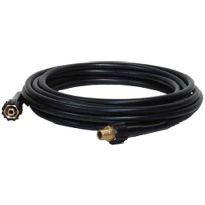 "Apache 10085577 1/4"" x 35' Thermoplastic Rubber Presure Washer Hose Coupled Female x Female Metric with Male Adapter"