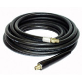 "Apache 98388075 3/8"" ID X 25' Black Rubber Pressure Washer Hose Coupled MPT x MPT Swivel"
