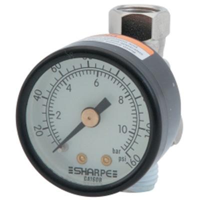 Sharpe Manufacturing 3310 High Volume Air Adjusting Regulator with Gauge 36AAV-HV