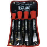 Ken-tool 66900 4 Piece Hard Cap Cold Chisel Set