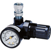 Sharpe Manufacturing 1410 16C-MR Mini Air Regulator with Gauge