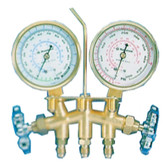 "Mastercool 35772 Brass Manifold Gauge Set with 72"" Hoses"