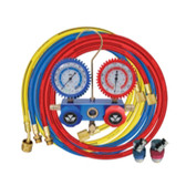 Mastercool 87772-G 2-Way Manifold Gauge Set with 90 degree Snap and Seal Coupler