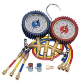 Mastercool 98772 Dual Brass Manifold Gauge Set