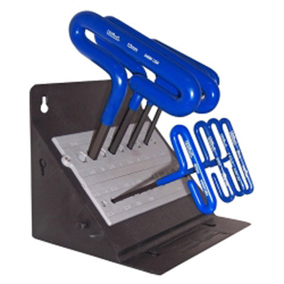 "Eklind Tool Company 56168 8 Piece 6"" Cusion Grip Hex T-Key Set with Stand"