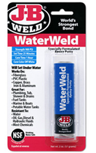 JB Weld 8277 Waterweld Epoxy Putty 2 Oz. Interior/Exterior