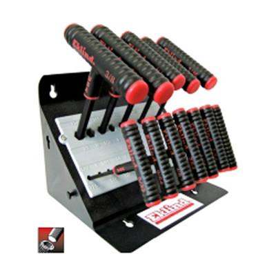 "Eklind Tool Company 60614 11 Piece 6"" Series Power-T T-Handle Hex Key Set"