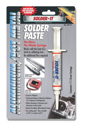 Solder It ALP-21 Aluminum/Pot Metal Solder Paste, 7.1 Gram Syringe