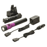 Streamlight 75978 Stinger DS LED Rechargeable Flashlight with AC/DC and PiggyBack Holder - Purple