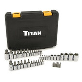 Titan 54137 43 Pc. Master Star Bit Socket Set