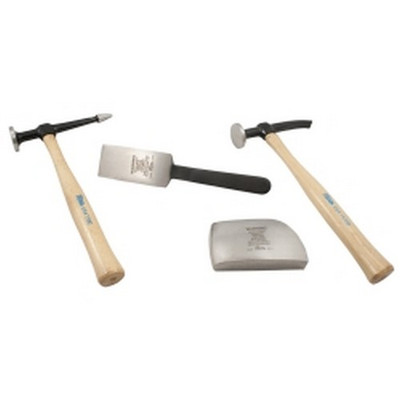 Martin Tools 644K 4 Piece Body and Fender Repair Set with Hickory Handles
