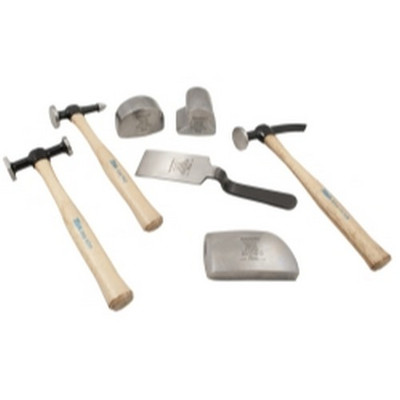 Martin Tools 647K 7 Piece Body and Fender Repair Set with Hickory Handles