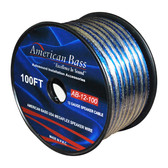 American Bass 12GSP/150 Speaker Wire 12Ga. 100' Blue ** Ab12-100**