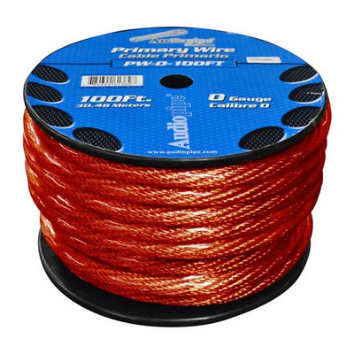 Audiopipe PW0100RD Power Wire 0Ga. 100' Red
