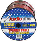 Audiopipe CABLE12BLACK Speaker Cable 12Ga. 500' ;Red + Black