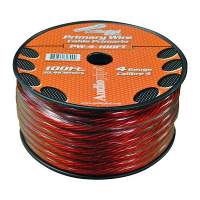 Audiopipe PW4100RD Power Wire 4Ga 100' Red