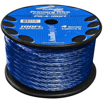 Audiopipe PW4100BL Power Wire 4Ga 100' Blue