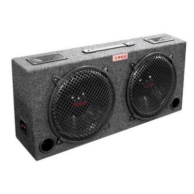 "Audiopipe KIC100 Woofer Box Dual 10"" XXX 2-Way Loaded Angle Style; 300Watts"